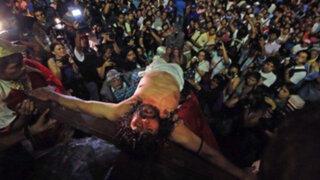 Vía Crucis del 'Cristo Cholo': asistencia superó lo previsto y fue suspendido