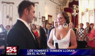 Cuando las novias hacen llorar a novios en el altar con emotivas sorpresas