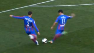 VIDEO: jugadores del Levante intentan insólito tiro libre a lo 'Supercampones'
