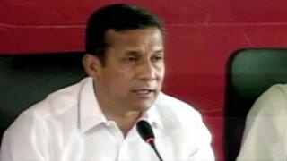 Humala exhortó a autoridades regionales a cuidar dinero público en elecciones