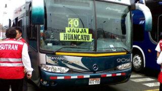Semana Santa: Sutran ejecuta control preventivo de buses en terminales terrestres