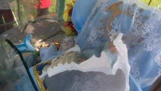 San Juan de Lurigancho: vándalos destruyen Virgen de la Inmaculada Concepción