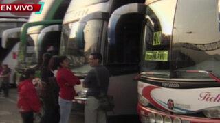 Viajeros piden que Sutran intervenga en excesiva alza del precio de pasajes