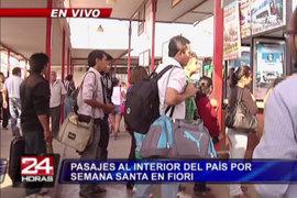 Semana Santa: precios de pasajes se reducen en terminal Fiori