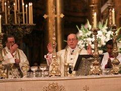 Juan Luis Cipriani presidió la misa por Jueves Santo en la Catedral de Lima
