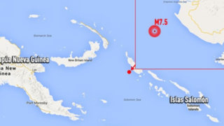 Alerta de tsunami para Papúa Nueva Guinea tras sismo de 7,5 de magnitud