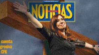 Polémica: Cristina Fernández aparece crucificada en portada de revista