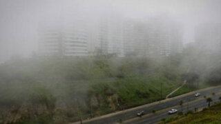 Lima amaneció con densa neblina en varios distritos