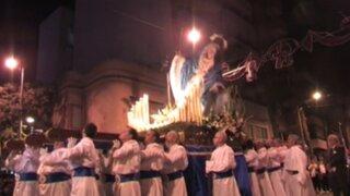 VIDEO: figura de la Virgen se cae en plena procesión de Semana Santa