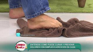 Sepa cómo realizar ejercicios en casa para curar y prevenir dolores en los pies