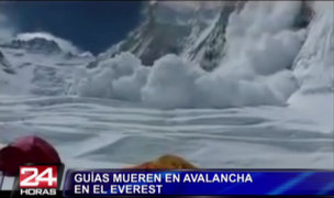 Difunden imágenes de la avalancha del Everest que mató a 13 personas