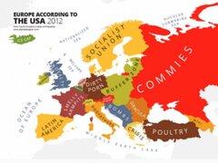 Los prejuicios de EEUU: este es el mapa del mundo según los norteamericanos