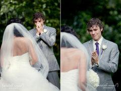 FOTOS: novios impresionados al ver a sus hermosas novias el día de sus bodas