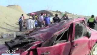 Pareja de esposos muere tras fatídico accidente en la carretera a Cañete