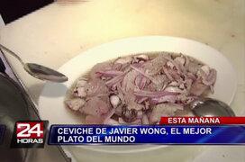 Javier Wong enseña a preparar su cebiche reconocido como Mejor Plato del Mundo