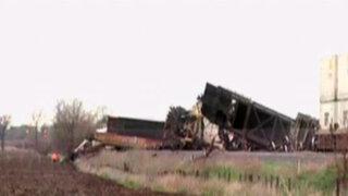 EEUU: tren se descarrila debido a paso de fuertes vientos en Illinois