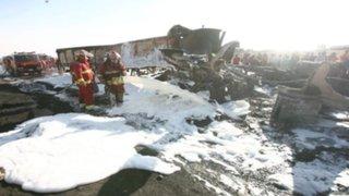 Choque frontal de camiones cisterna deja un muerto en Arequipa