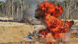 Madre de Dios: autoridades destruyen maquinarias utilizadas en minería ilegal
