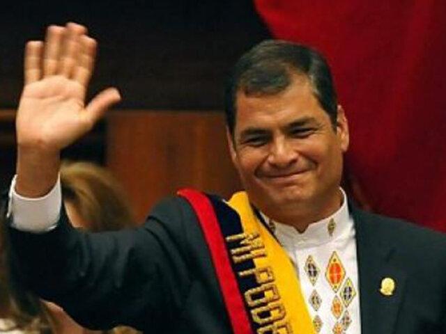 Presidente Rafael Correa defendió la regulación de los medios de comunicación
