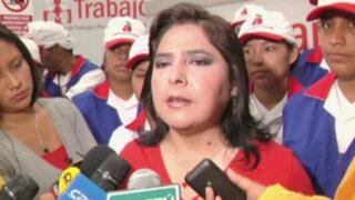 Ministra Jara niega aportes de mineros informales a la campaña de Humala