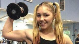 Rusa de 14 años sorprende al mundo levantando pesas de 100 kilos