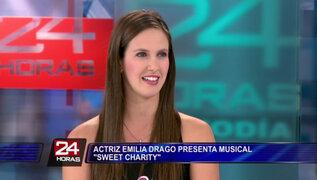 Emilia Drago cuenta detalles del musical de Broadway 'Sweet Charity'