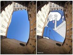 FOTOS: geniales dibujos plasmados entre los edificios y el cielo urbano
