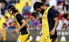Atlético de Madrid cayó ante el Levante por 2 a 0