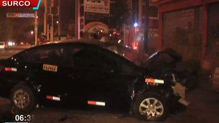 Dos personas heridas dejó accidente de tránsito en Surco