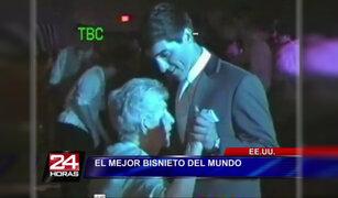 Joven estadounidense llevó a su bisabuela como pareja a su fiesta de graduación