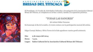 """Óscar Blas Tarazona """"Oshka"""" expone pinturas en el Brisas del Titicaca"""