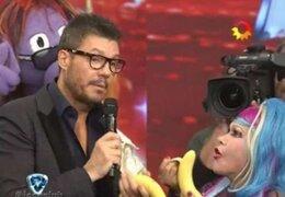 Marcelo Tinelli recibió a La Tigresa del Oriente en su programa Bailando 2014