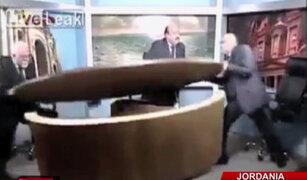 Jordania: debate político en programa de televisión terminó a golpes