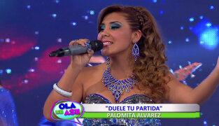 Palomita Álvarez nos canta su exitoso tema 'Duele Tu Partida'