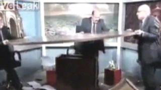 VIDEO: debate político termina en pelea durante programa televisivo