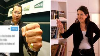 La acalorada discusión entre Phillip Butters y Milagros Leiva en Twitter