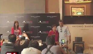 Antonio Banderas dio conferencia de prensa tras su llegada a Lima