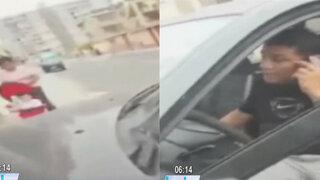 Chofer se estacionó en la vereda e impidió paso a mujer con coche de bebé