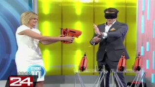 Australia: conductora de televisión casi se dispara en la cara durante programa
