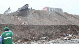 OEFA denuncia a municipio de San Miguel por manejo incorrecto de desmontes
