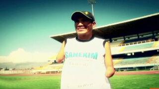 Historia ejemplar: Atleta sin brazos participa en maratón de Panamericana TV