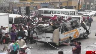Comprueban que chofer del Chosicano estaba ebrio al chocar contra camión