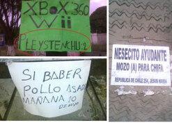 Errores ortográficos en carteles: atentados peruanos contra la lengua española