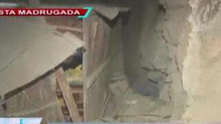Huaycán: gigantesca roca aplastó a dos menores dentro de su vivienda
