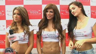 Vania Bludau, Shirley Arica y Andrea Cifuentes alborotan Feria de Transporte