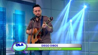 Diego Dibós interpretó su nuevo sencillo musical 'Nuestra promesa'