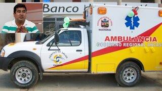 Confirman que ambulancias compradas por Álvarez en Áncash fueron sobrevaluadas