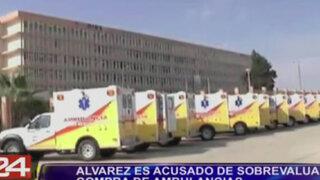 Álvarez también deberá responder por sobrevaloración en compra de ambulancias