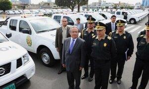 El Ministerio del Interior entregó 228 patrulleros a la Policía Nacional