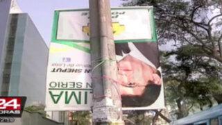 Destruyen propaganda a alcaldía de candidato toledista Juan Sheput